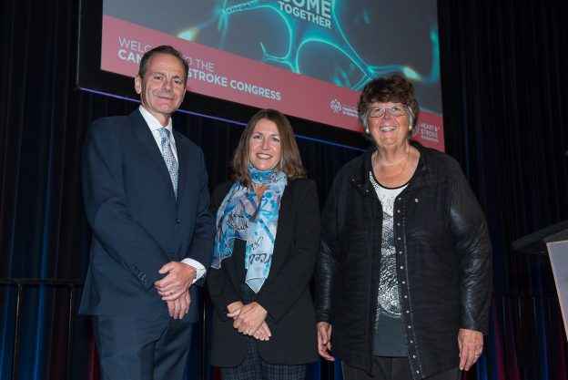 Dr. Jill Cameron with Congress Co-Chairs Dr. Jeffrey Munik and Dr. Carol Richards