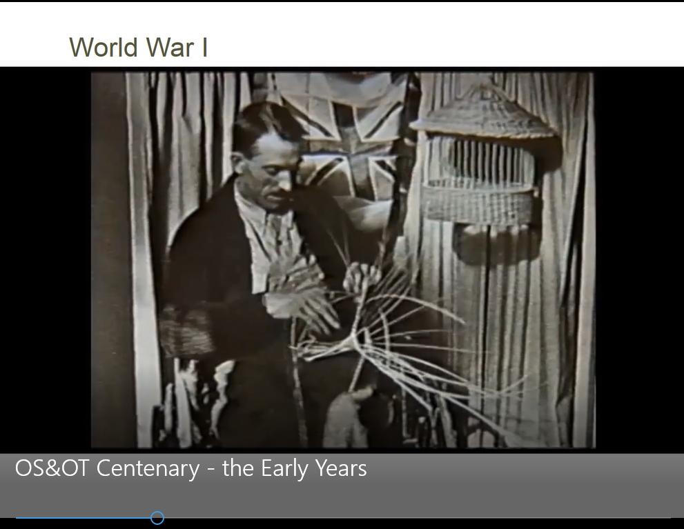 Screen capture from centenary slide presentation