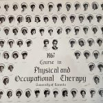Photo of students from Physical and Occupational Therapy Program, graduating 1967