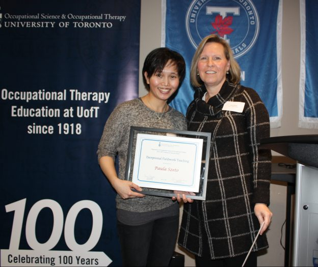Image of Paula Szeto receiving 2016-17 Exceptional Fieldwork Teaching Award