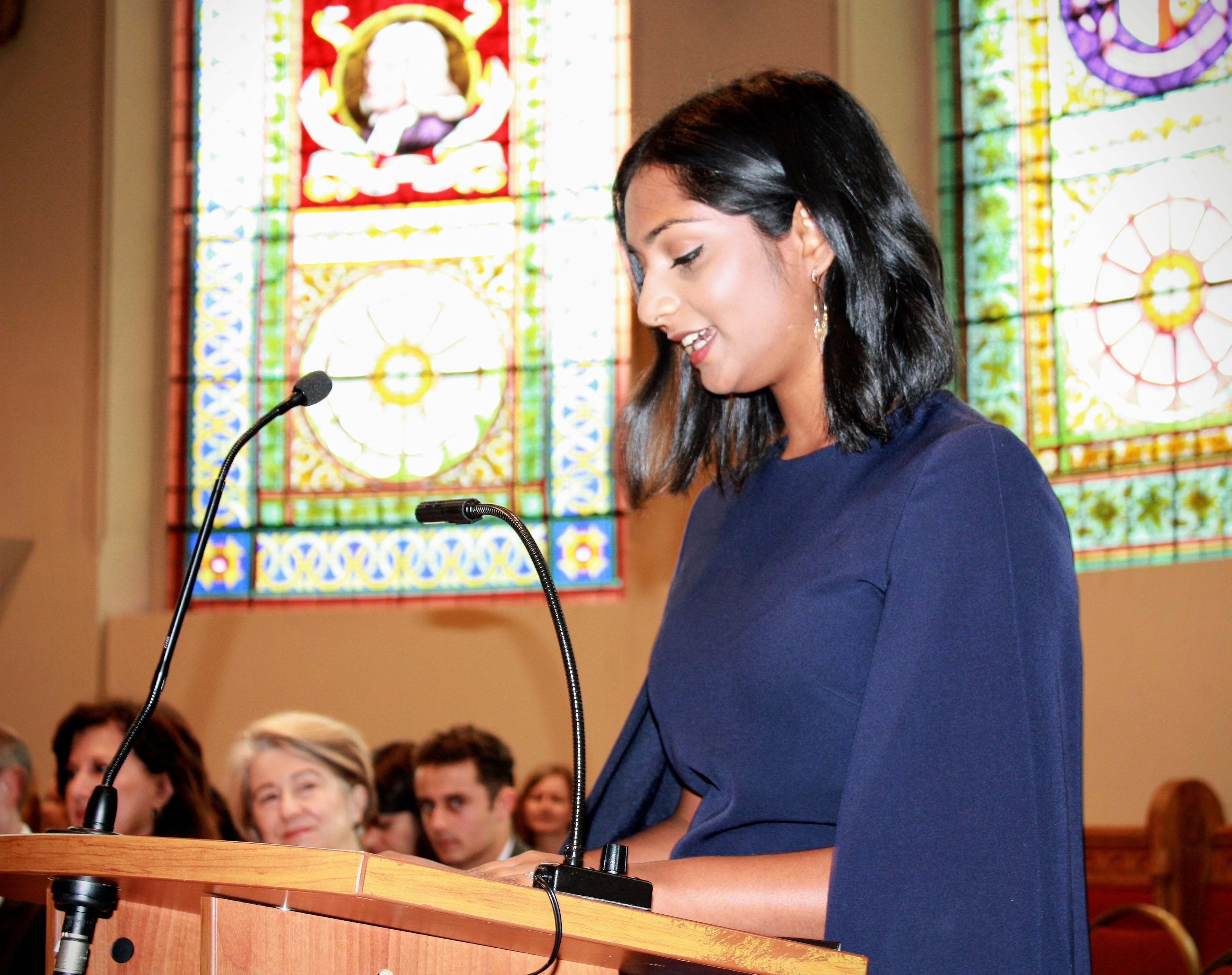 Image of Moira Ruthralingham, valedictorian