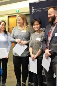 Image of Paula Szeto and colleagues receiving 2017-17 Fieldwork Supervision Recognition Aaward