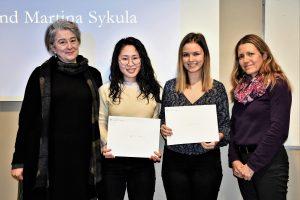 Image of Prof. Susan Rappolt, Amy Yang, Martina Sykula, and Prof. Jill Cameron