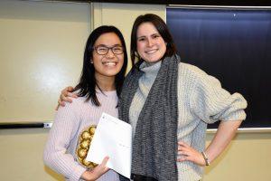 Photo of Priscilla Leung and Mallory Cole