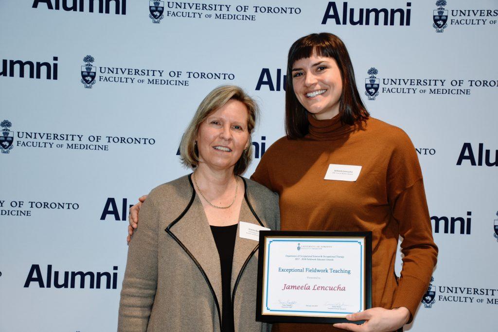 Photo of Prof. Donna Barker with Jameela Lencucha